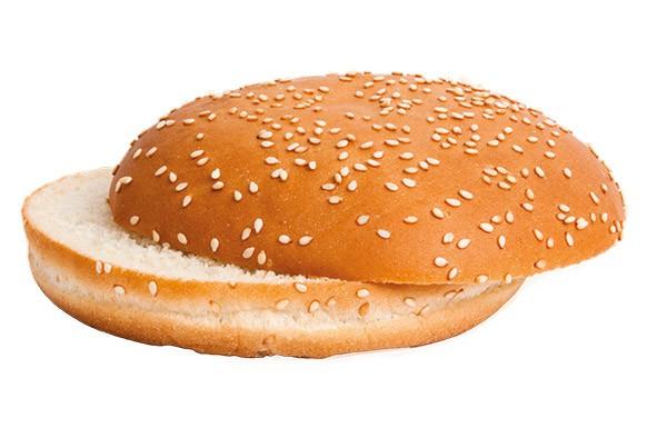 Hamburger-Brötchen rund mit Sesam 86g, 24 Stück