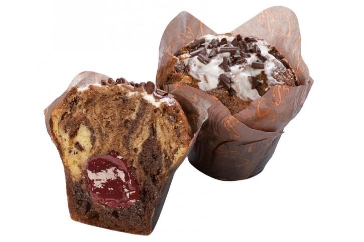 XXL-Cherry-filled Twister-Muffin 135g, 24 Stück