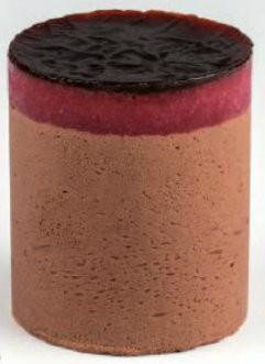 Zartbitterschokoladenmousse m. Erdbeeren u. Balsamico -Nachfüller- 115 ml, 20 Stück