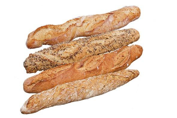 Baguette Mischkarton ca. 500 g, 4 x 3 Stück